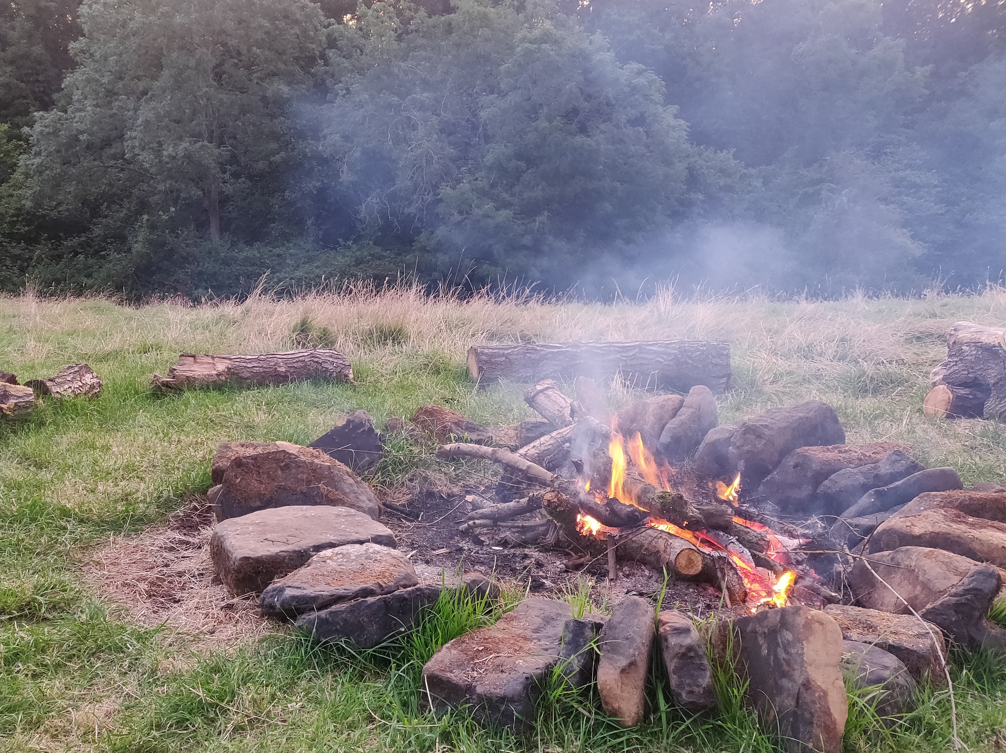 The firepit in action