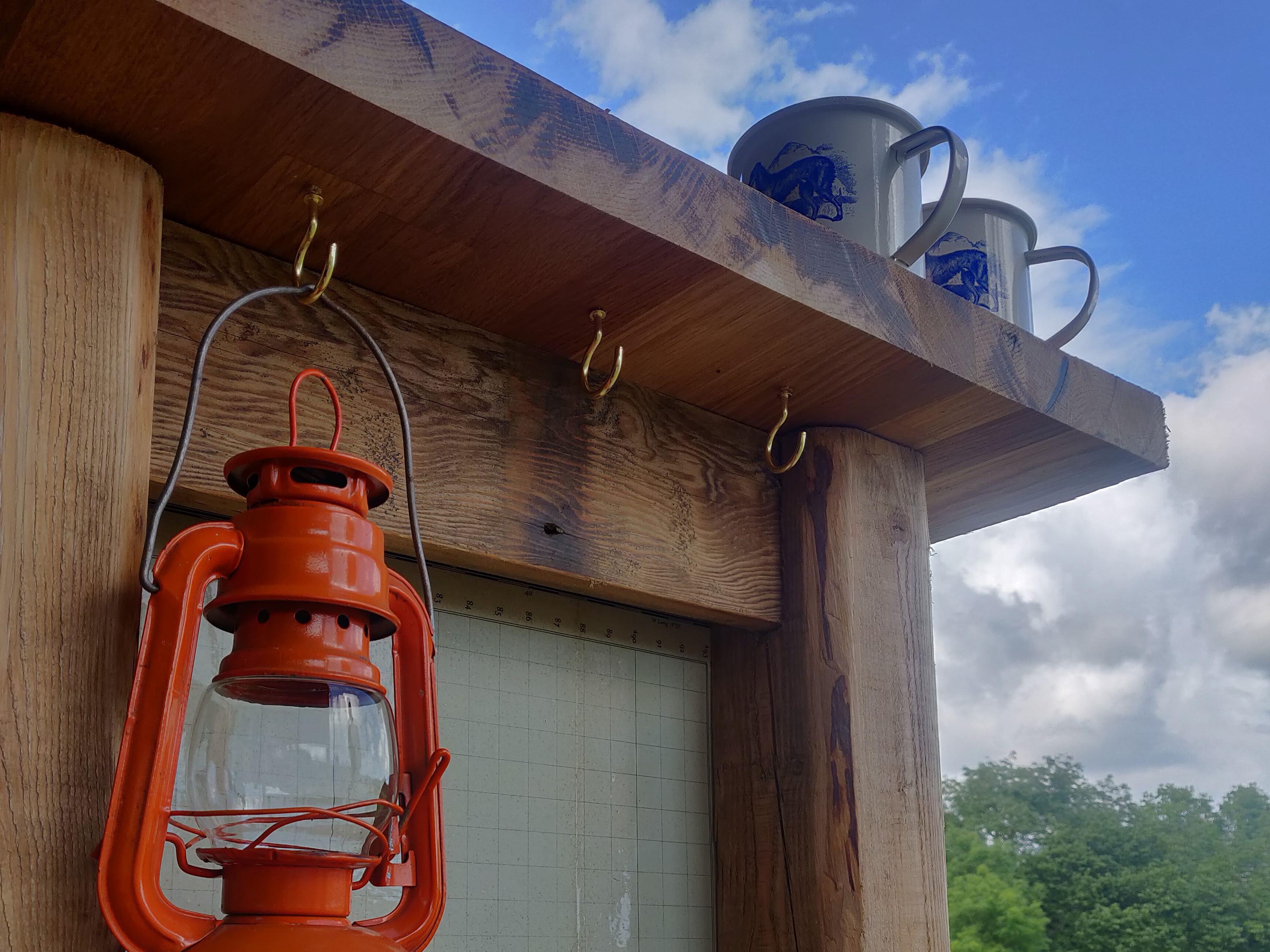Cups of tea and a big blue sky