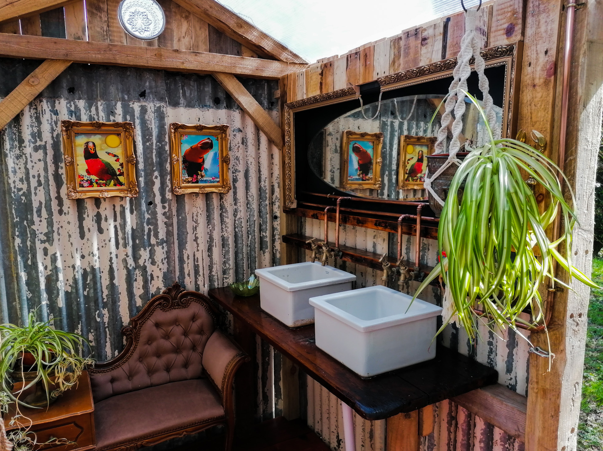 The Wild Woods glamping bathroom