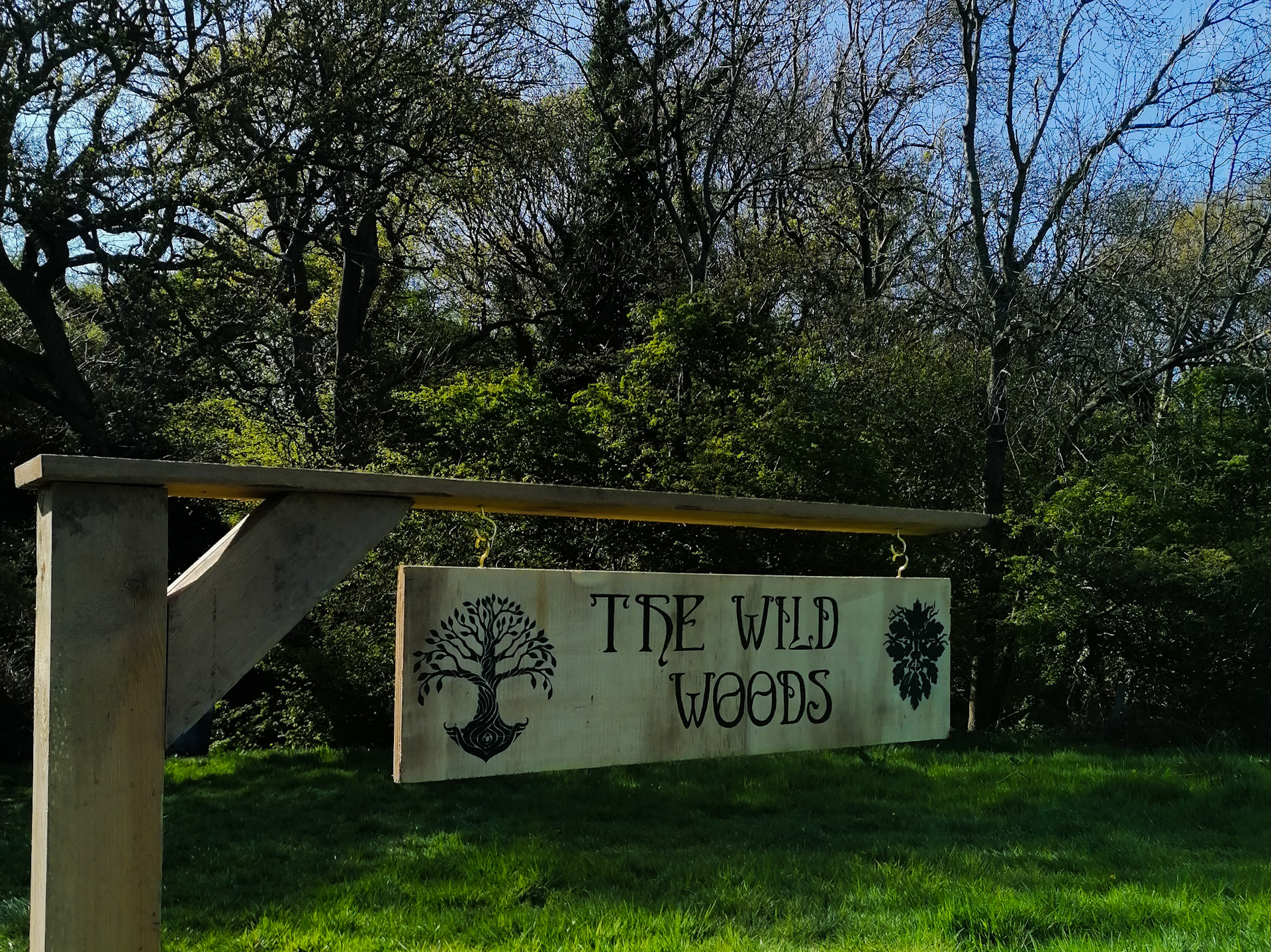 The sign to the Wild Woods