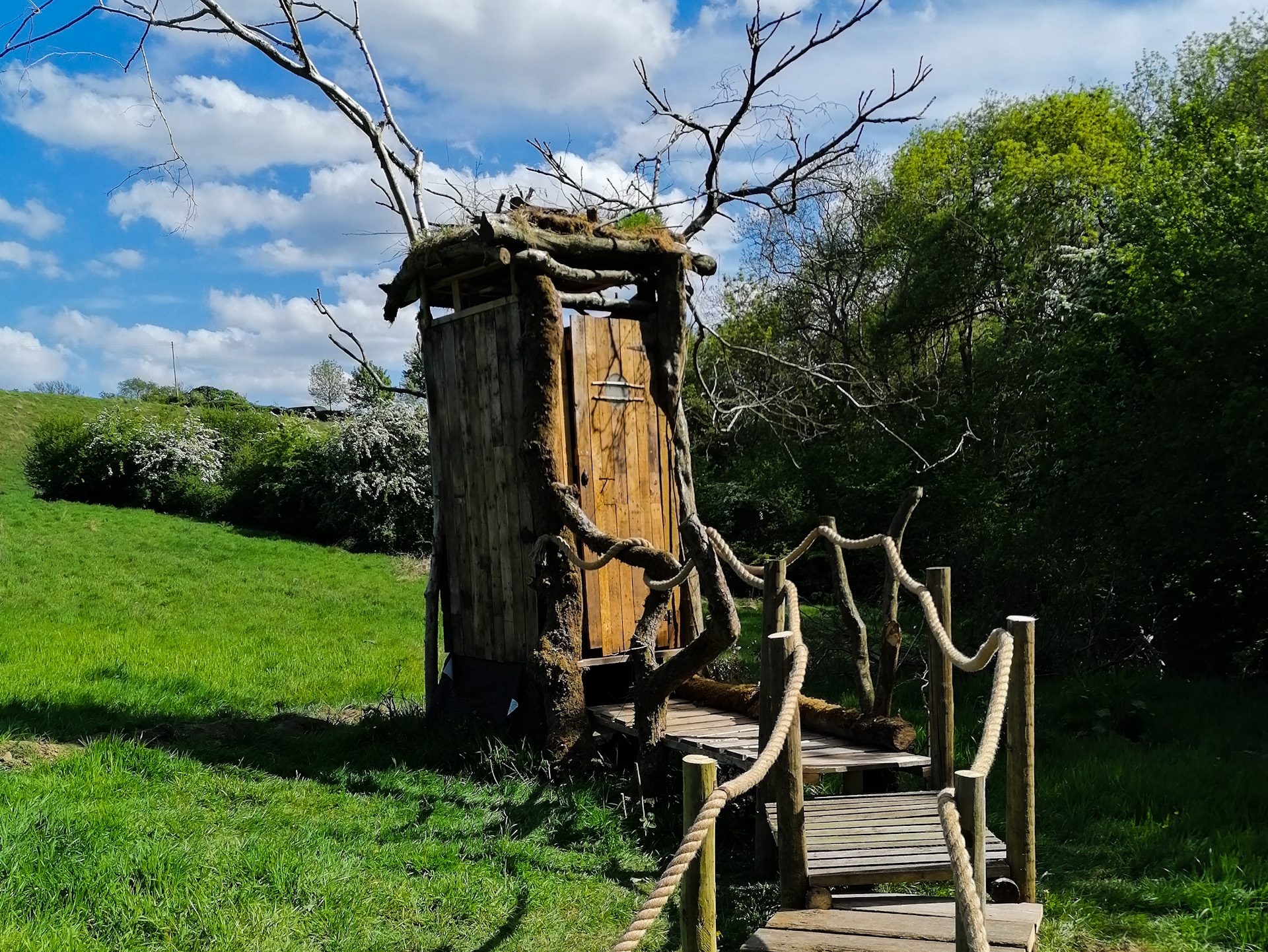 The compost toilet at the Wild Woods
