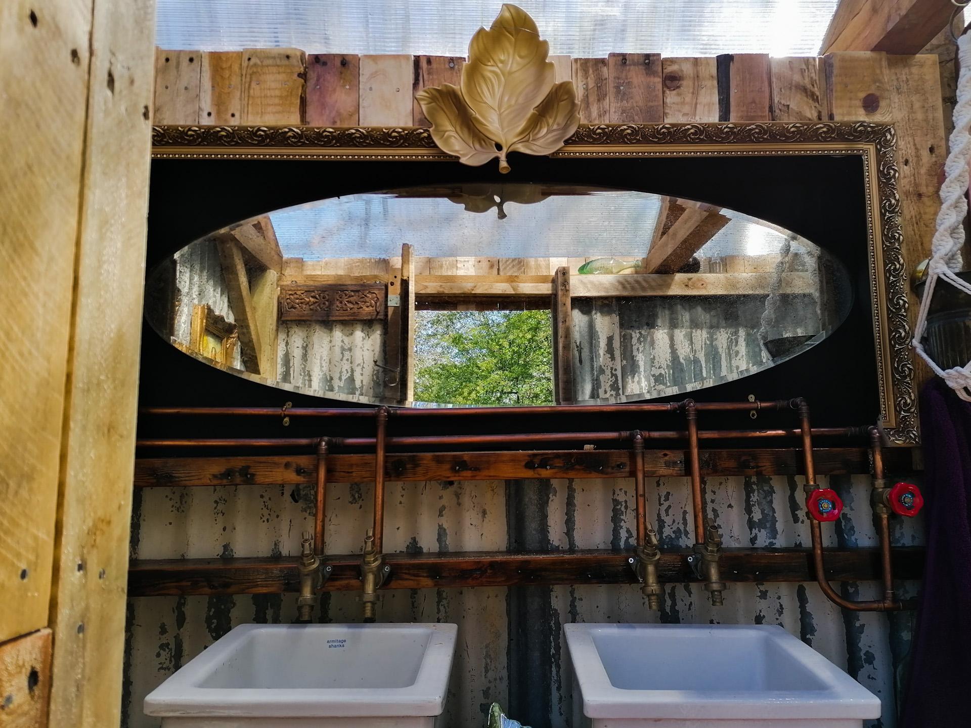 Double sinks in the Wild Woods bathroom